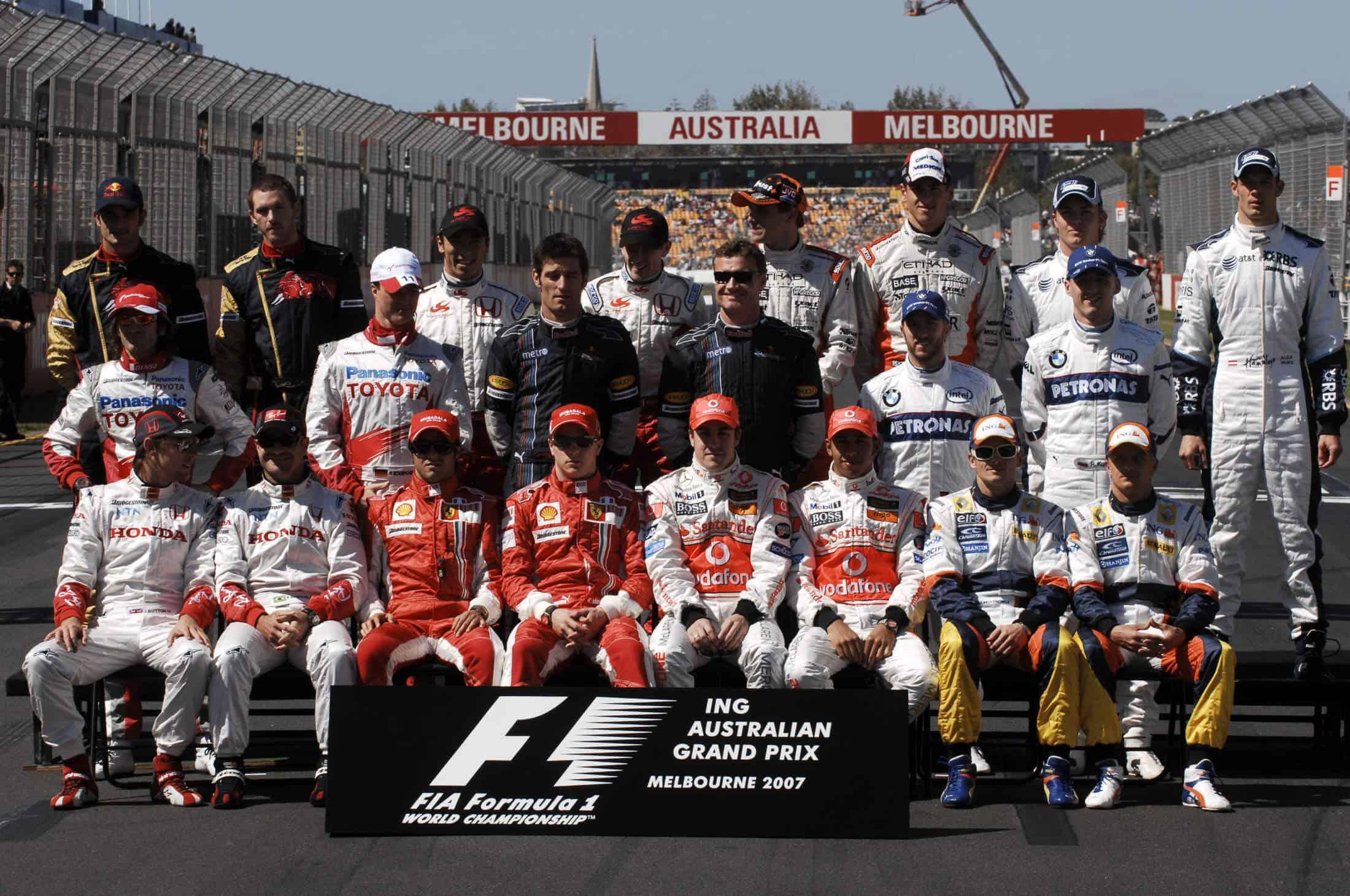 2007 Australian GP all drivers photo Photo Ferrari