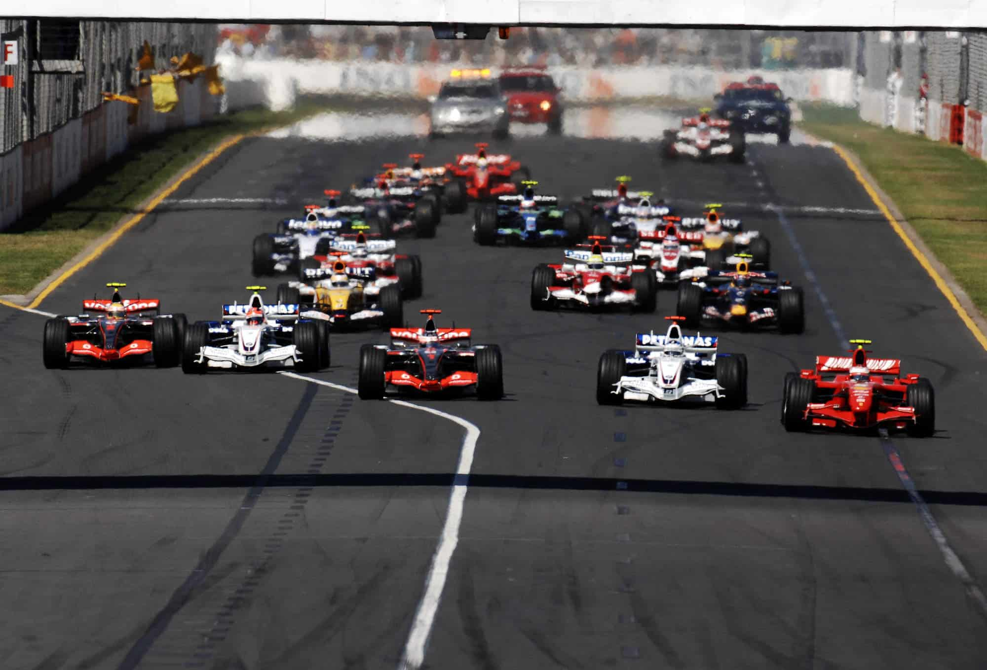 2007 Australian GP start Photo Ferrari