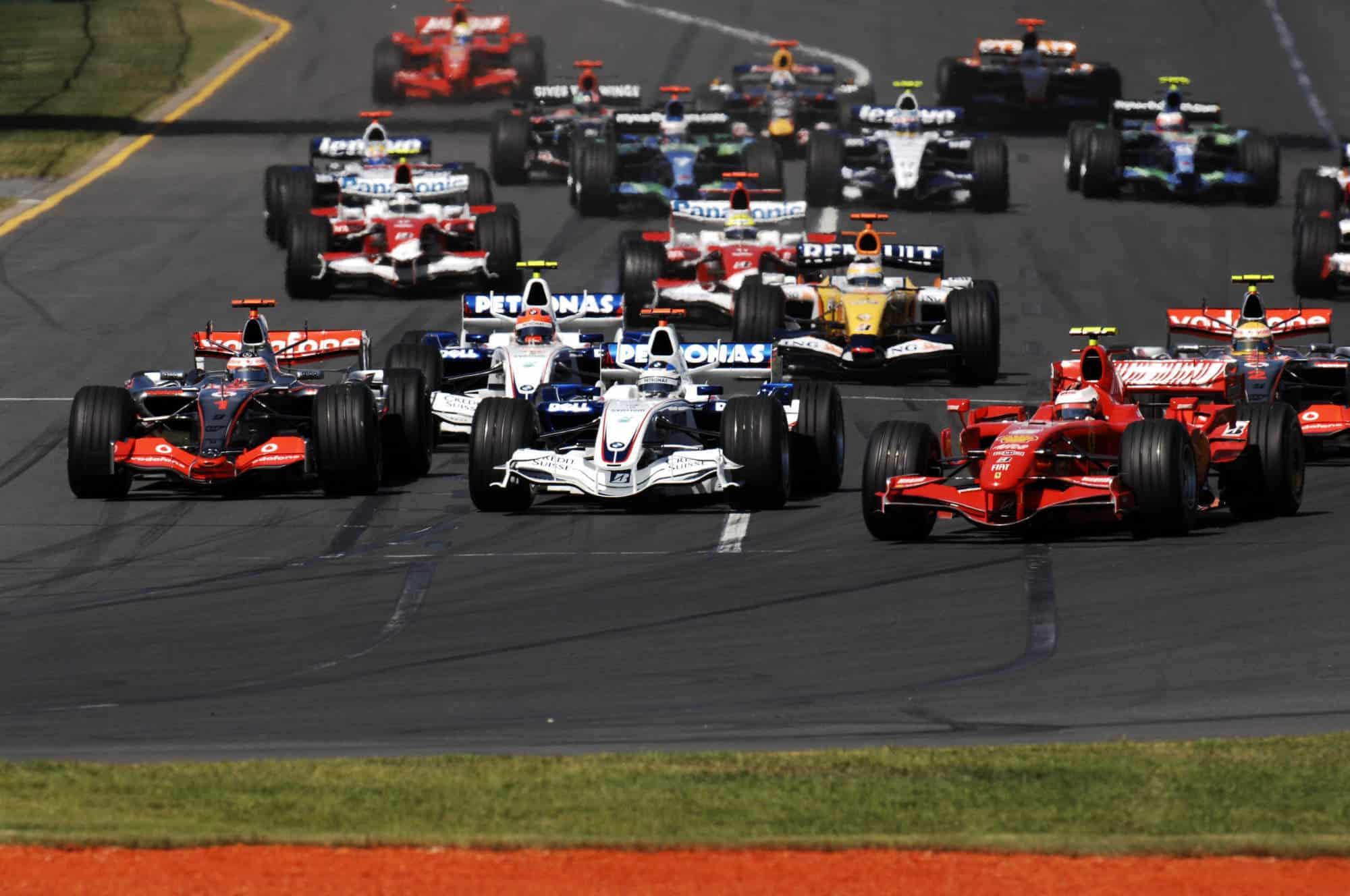 2007 Australian GP start zoom Photo Ferrari