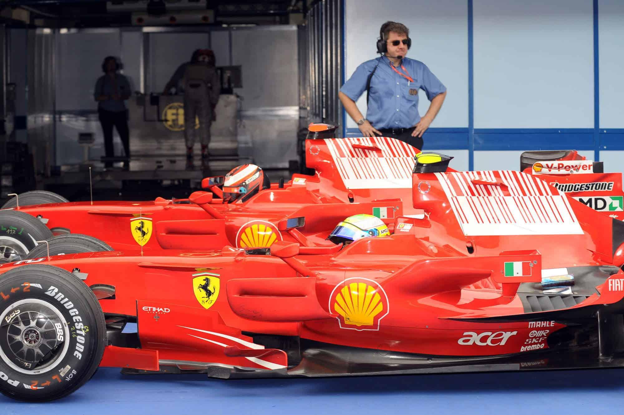 2008 Malaysian GP Massa Raikkonen after qualifying Photo Ferrari