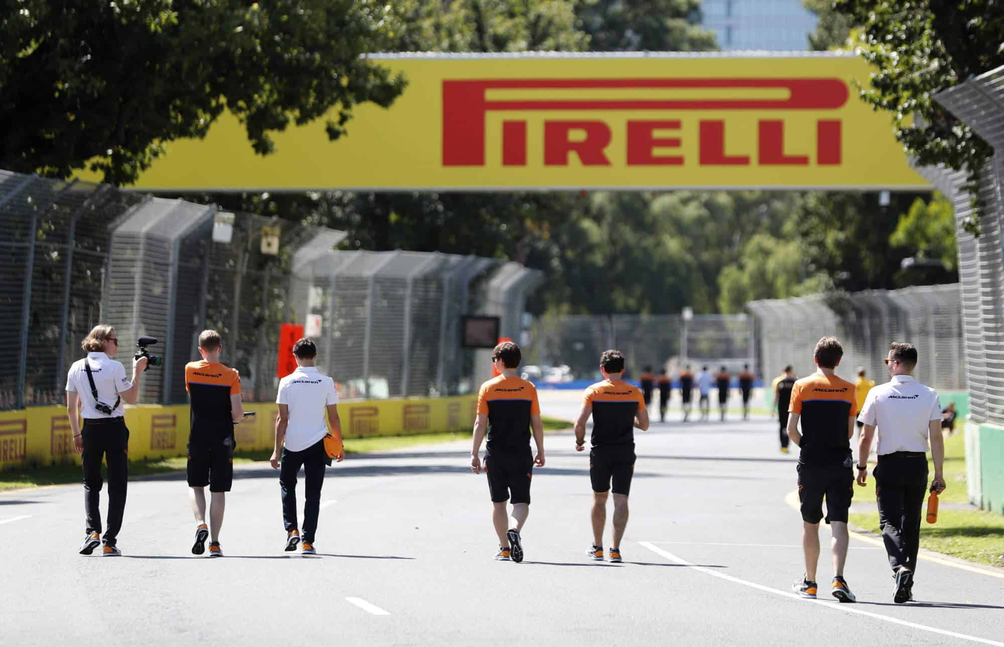 Australian GP F1 2020 on track McLaren team members Photo Pirelli