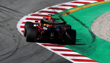 Max Verstappen Red Bull RB16 Barcelona Test 2 Day 3 F1 2020 Turn 7 - 8 Photo Red Bull