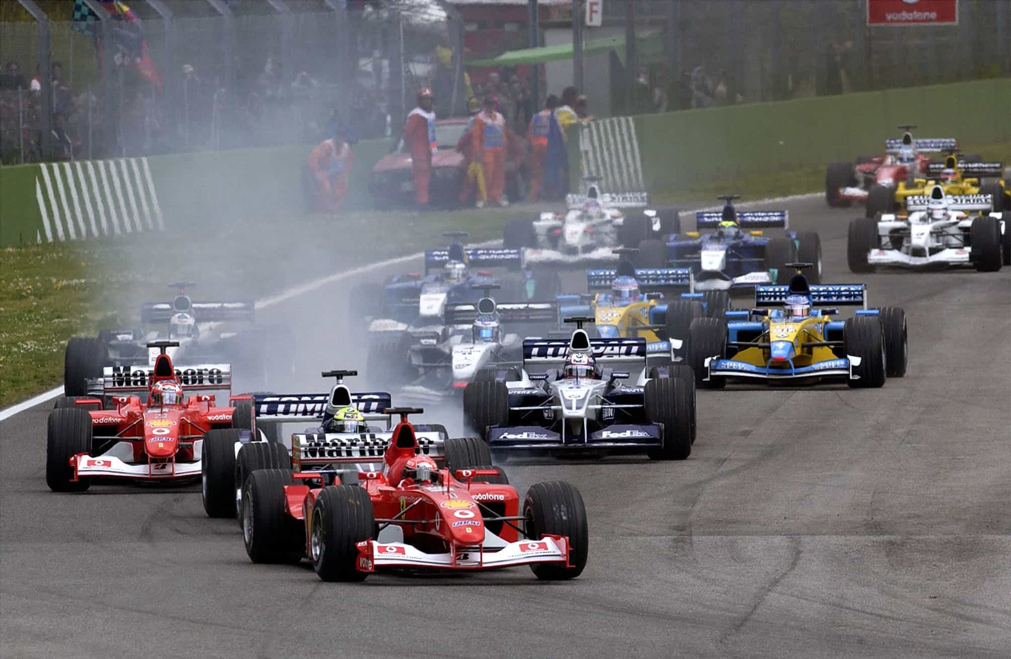 2002 F1 San Marino GP Imola start Photo Ferrari