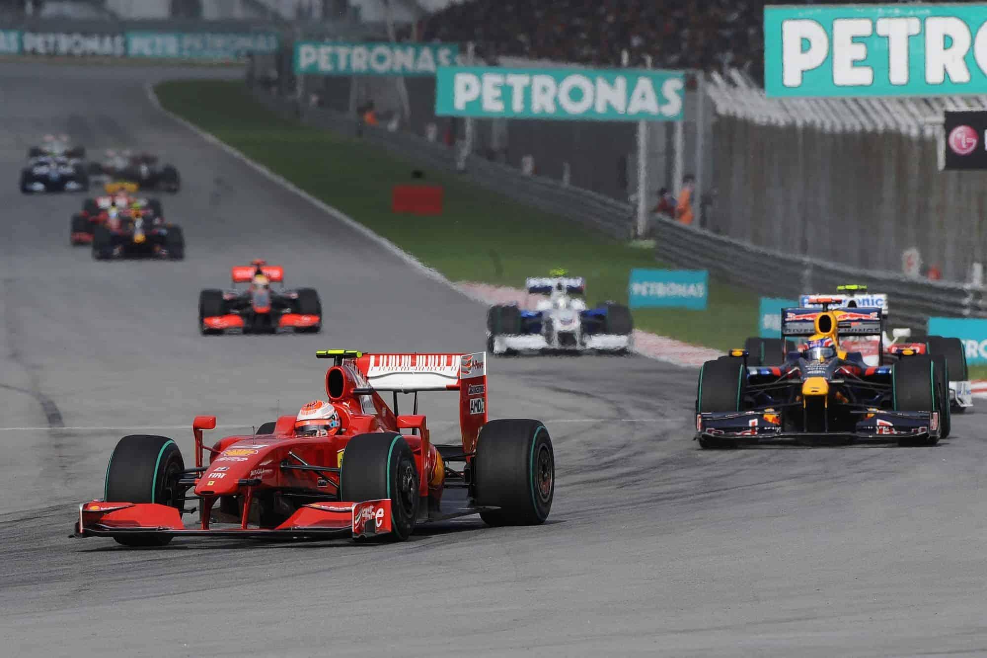 2009 Malaysian GP Raikkonen leads Webber Photo Ferrari