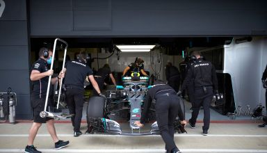 Bottas Mercedes W09 Silverstone post covid19 first test Photo Mercedes