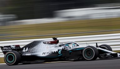 Hamilton Mercedes W09 Silverstone test 10th June Photo Mercedes Twitter