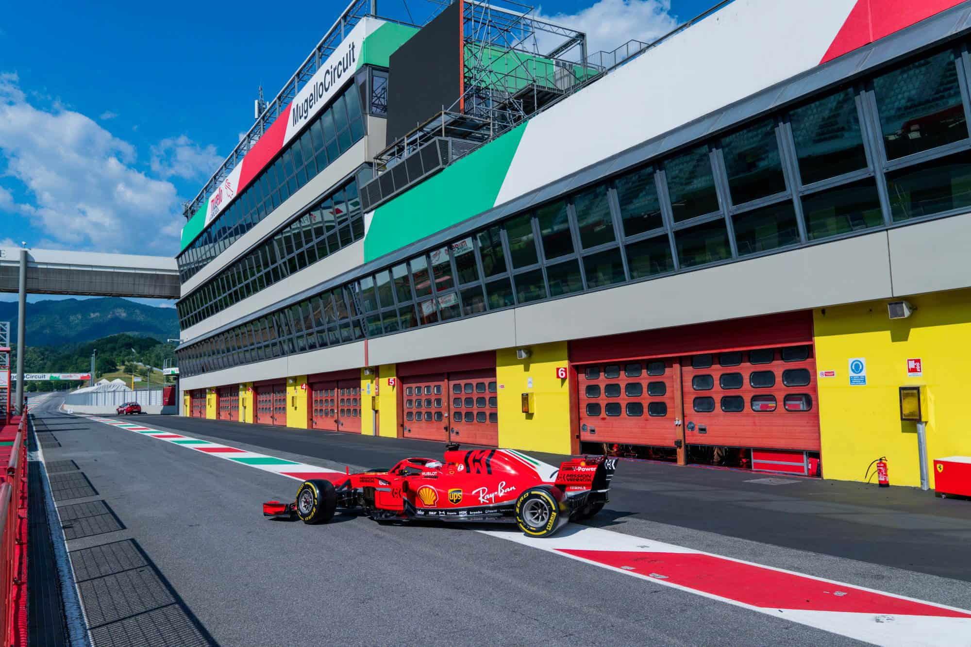 Leclerc Ferrari SF71H Mugello test 23rd June 2020 Photo Ferrari