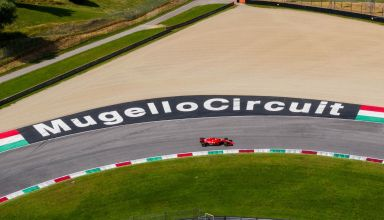 Leclerc Ferrari SF71H Mugello test 23rd June 2020 on track Photo Ferrari