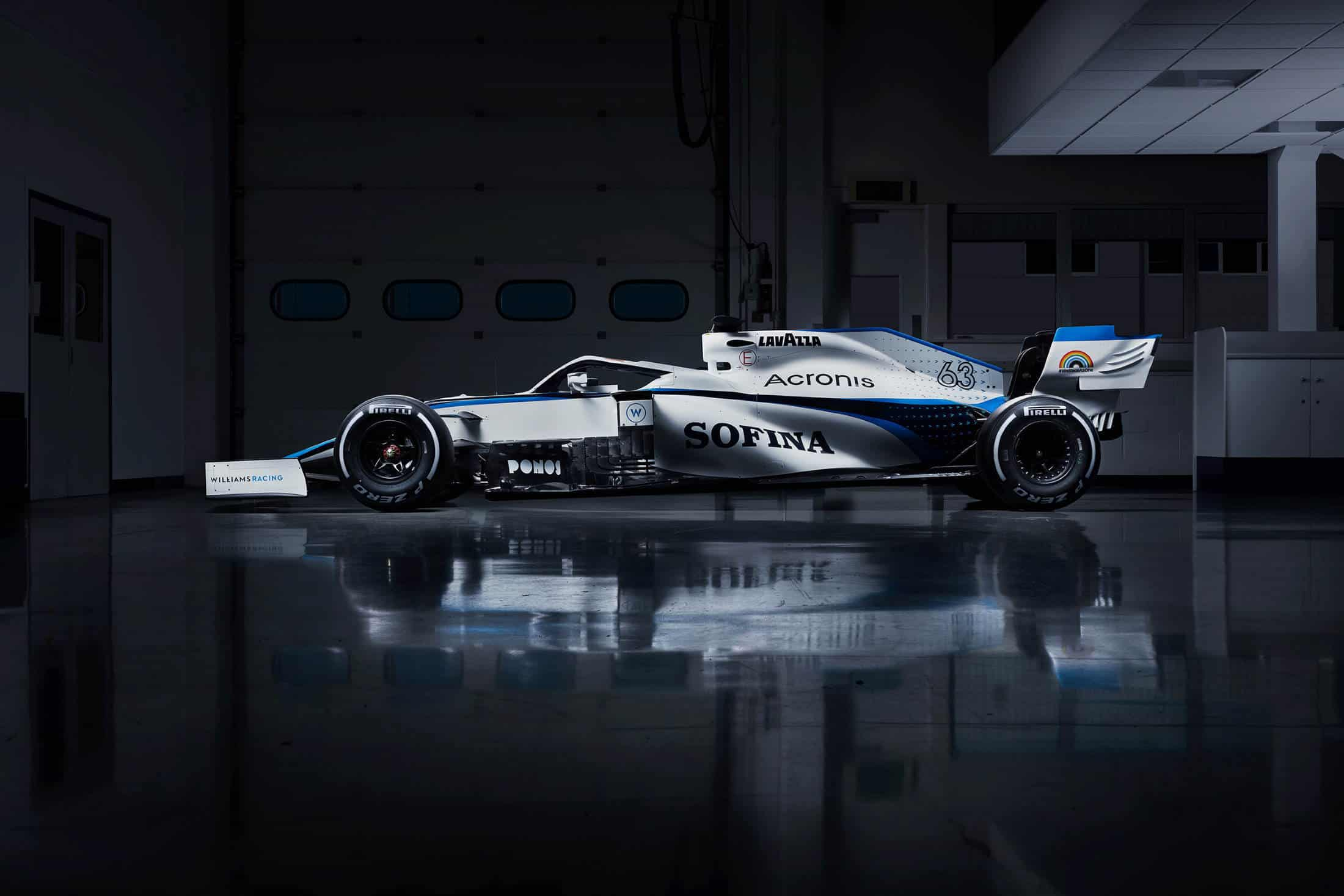 New 2020 F1 Williams livery without ROKit Photo Williams Twitter