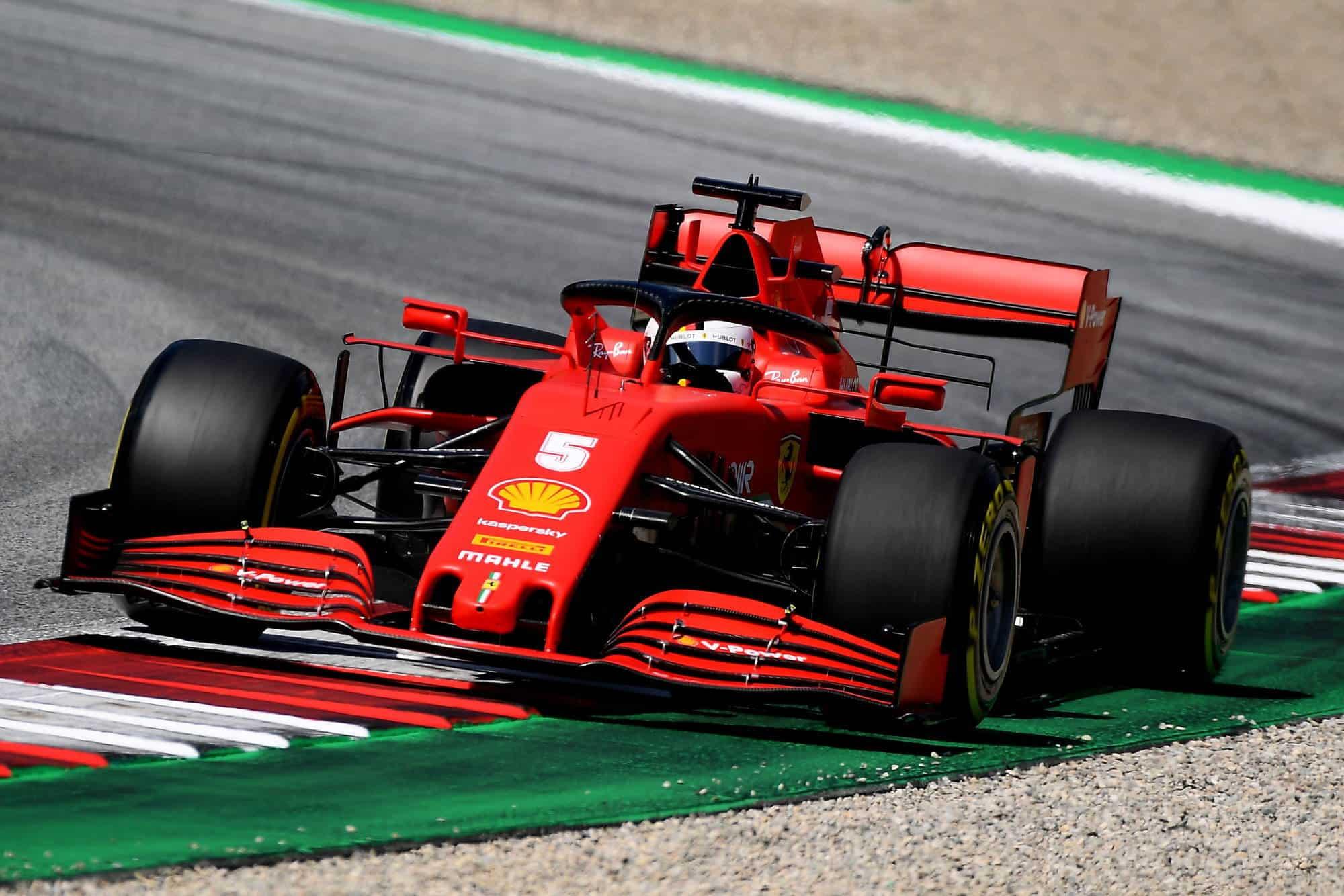 2020 Austrian GP Vettel Ferrari SF1000 medium Pirelli Photo Ferrari