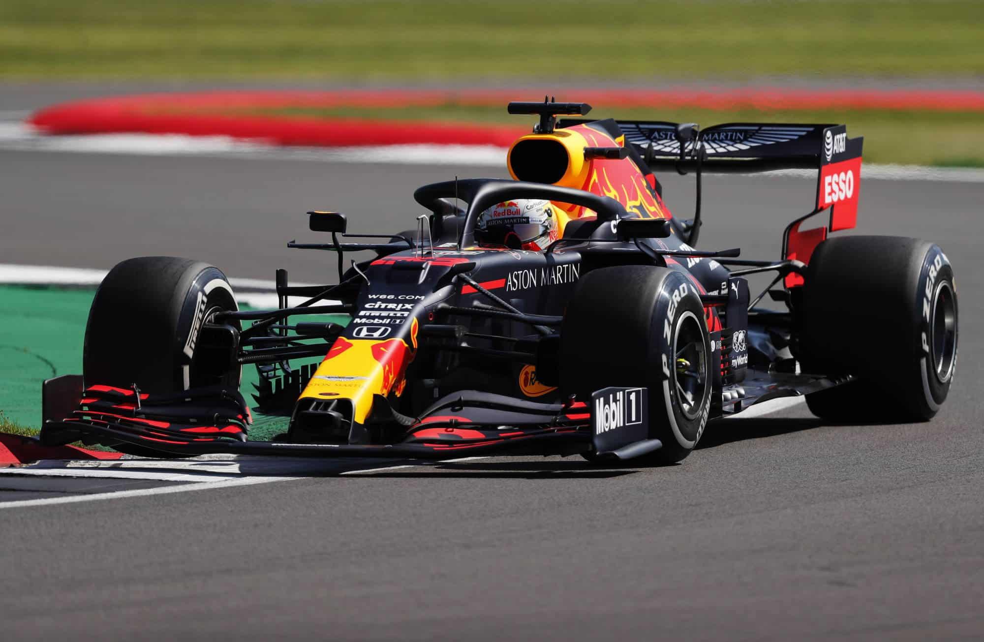 2020 British GP Verstappen Red Bull hard Pirelli Photo Red Bull