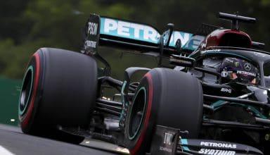 2020 Hungarian GP Hamilton Mercedes close up Photo Daimler