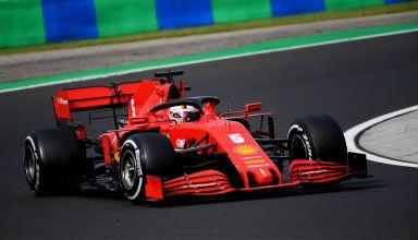 2020 Hungarian GP Vettel Ferrari hard Pirelli R Photo Ferrari
