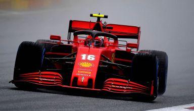2020 Styrian GP Leclerc Ferrari SF1000 wet qualifying Photo Ferrari