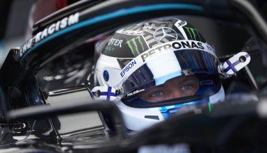 Bottas Mercedes 2020 Hungarian GP helmet in the car Photo Daimler