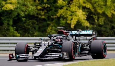 Hamilton Mercedes 2020 Hungarian GP Q soft Photo Mercedes F1 Twitter