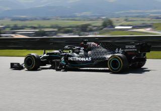 Hamilton Mercedes Austrian GP F1 2020 FP side Photo Daimler