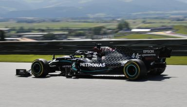 Hamilton Mercedes Austrian GP F1 2020 FP side Photo Daimler