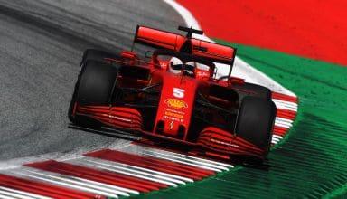 Vettel Ferrari 2020 Austrian GP F1 exit kerb Photo Ferrari