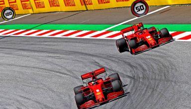 Vettel Leclerc Ferrari SF1000 Austrian GP F1 2020 Photo Ferrari