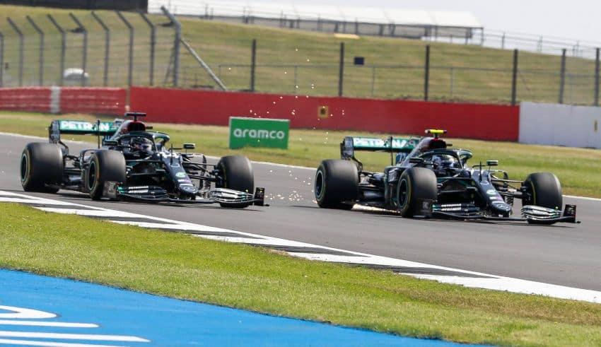 2020 70th Anniversary GP Hamilton battles Bottas Photo Daimler
