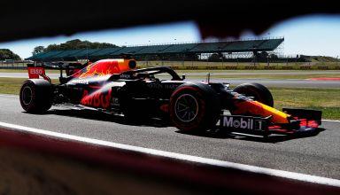 2020 70th Anniversary GP Verstappen on track soft Pirelli Photo Red Bull
