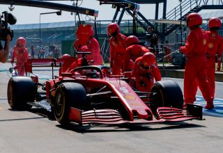 2020 70th Anniversary Vettel medium Pirelli pitlane Photo Ferrari