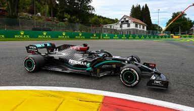 2020 Belgian GP Hamilton Mercedes hard La Source Photo Mercedes