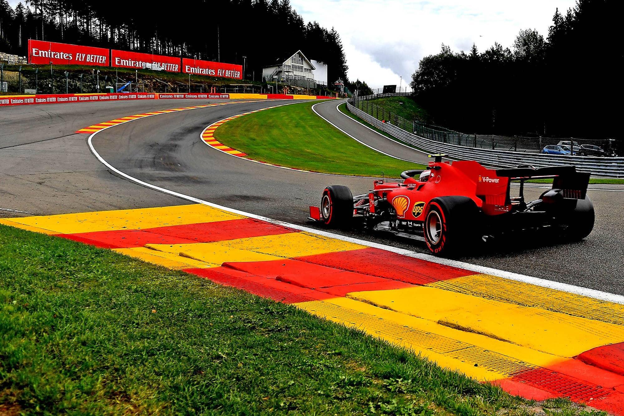 2020 Belgian GP Leclerc Eau Rouge Photo Ferrari