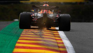 2020 Belgian GP Verstappen Red Bull RB16 rear end Photo Red Bull