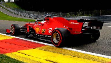 2020 Belgian GP Vettel Eau Rouge Photo Ferrari