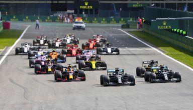2020 Belgian GP start of the race Photo Daimler