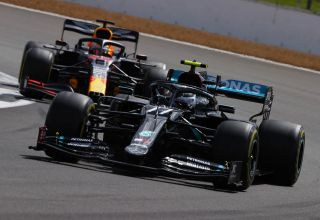 2020 British GP Bottas leads Verstappen Photo Daimler