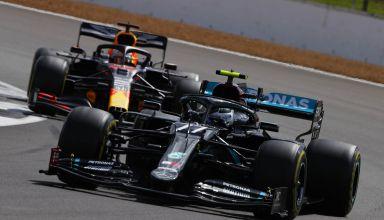 2020 British GP Bottas leads Verstappen Photo Daimler