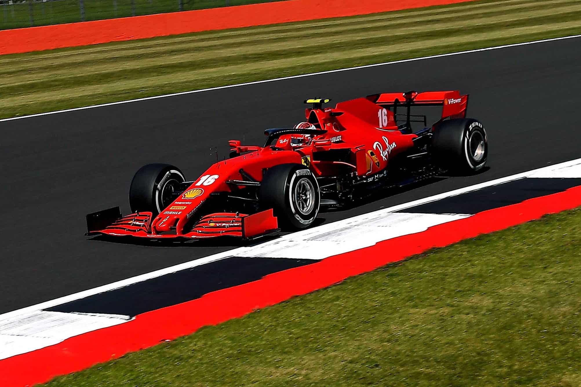 2020 British GP Leclerc Ferrari Photo Ferrari