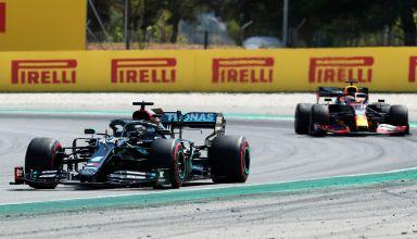 2020 Spanish GP Hamilton leads Verstappen Photo Red Bull
