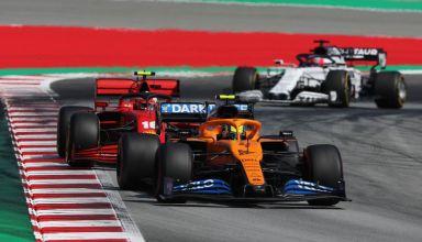 2020 Spanish GP Norris Leclerc Kvyat Photo McLaren