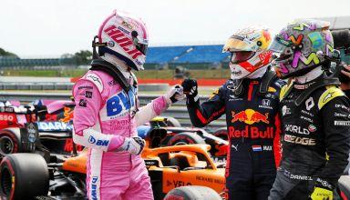Hulkenberg Verstappen Ricciardo 70th Anniversary Silverstone F1 2020 Photo RaceFans XPB