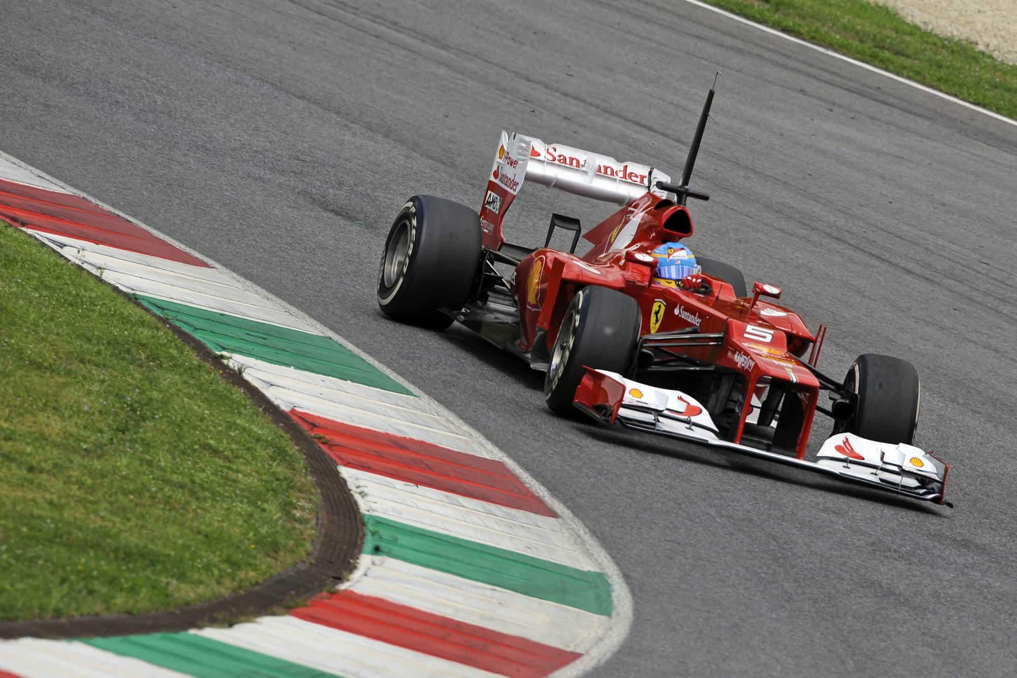 2012 Mugello F1 in season test Alonso Ferrari F2012 Photo Ferrari