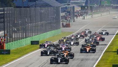 2020 Italian GP start Photo Daimler
