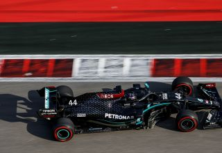 2020 Russian GP Hamilton Mercedes soft Pirelli Photo Daimler