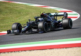 2020 Tuscan GP Bottas Mercedes F1 W11 hard Pirelli Photo Daimler