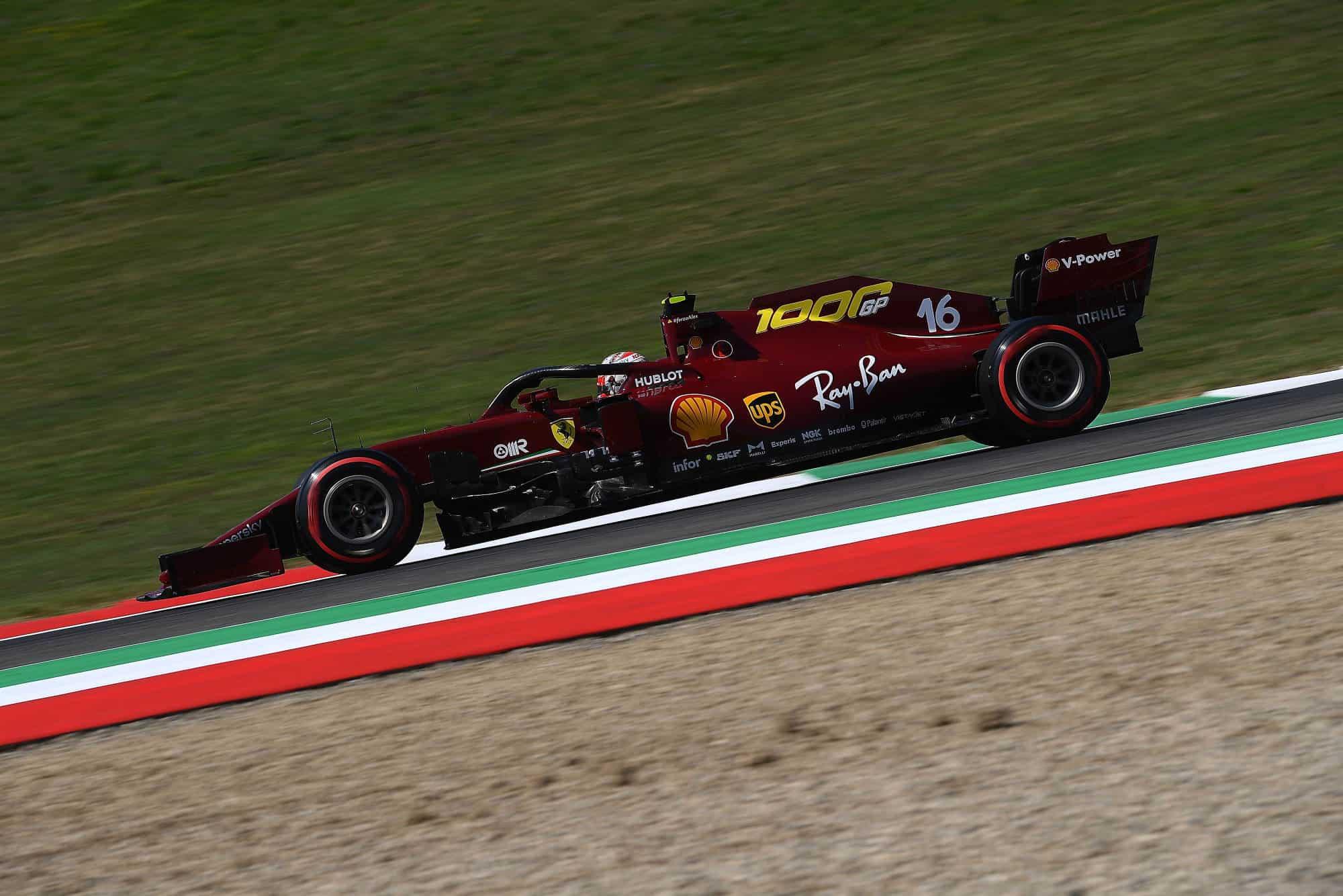 2020 Tuscan GP Ferrari SF1000 special livery Leclerc Saturday Photo Ferrari