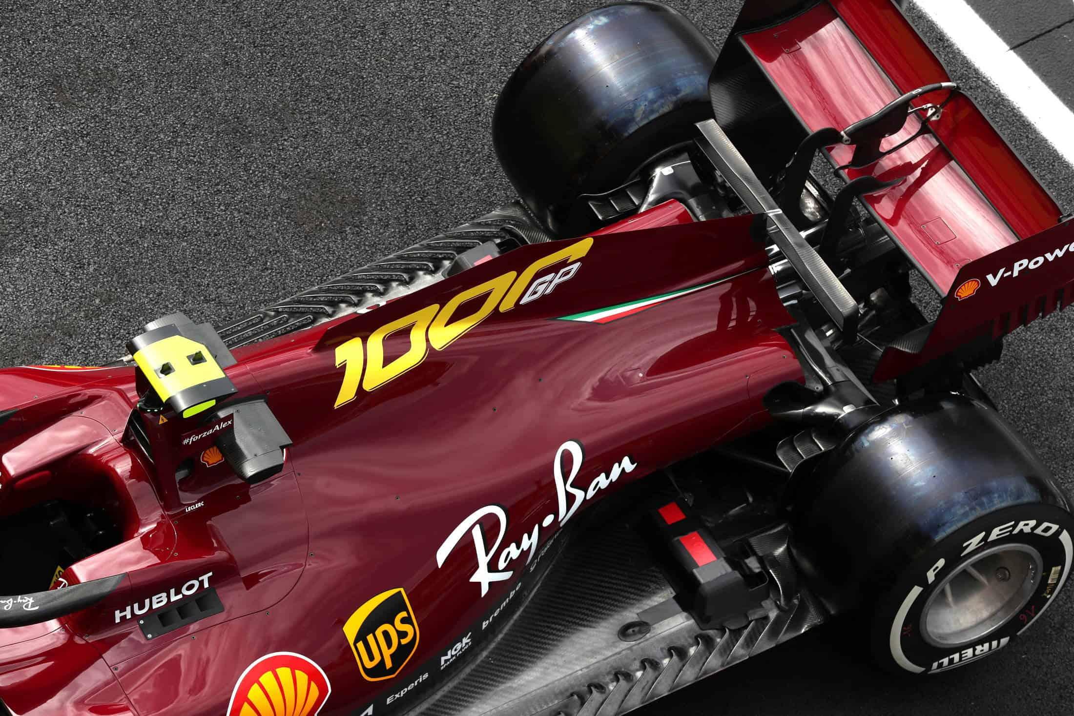 2020 Tuscan GP Ferrari SF1000 special livery on track Thursday Photo Ferrari