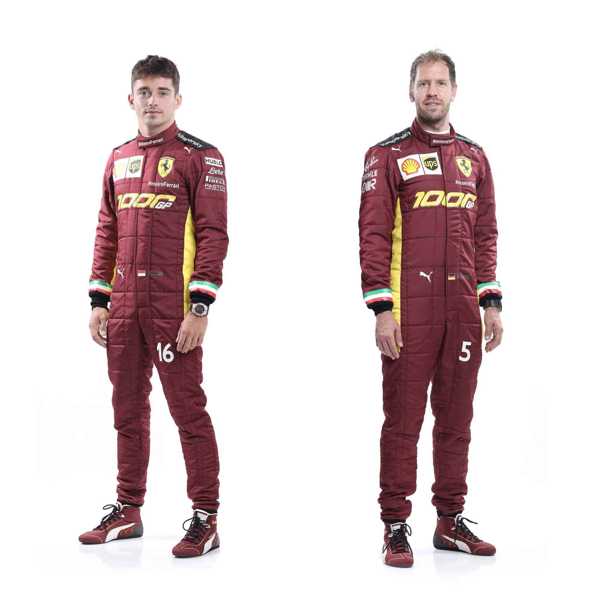 Ferrari Unveils Special Racing Suits For Their 1000th F1 Race In Mugello