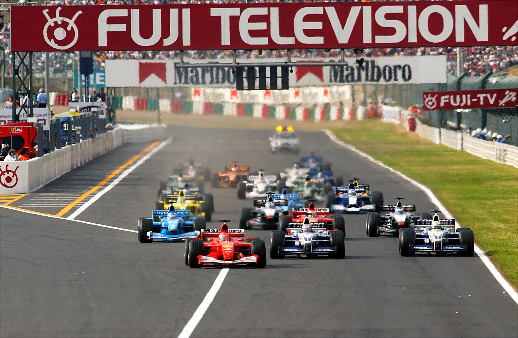 2001 Japanese GP Start Photo Ferrari