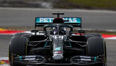 2020 Eifel GP Q1 Hamilton Mercedes medium Pirelli Photo Mercedes F1 AMG Twitter