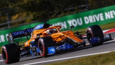2020-Eifel-GP-Sainz-McLaren-MCL35-new-nose-aero-package-Photo-McLaren