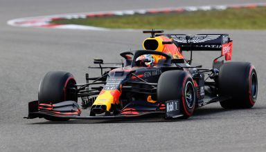 2020 Eifel GP Verstappen Q1 Red Bull RB16 soft Pirelli Photo Red Bull