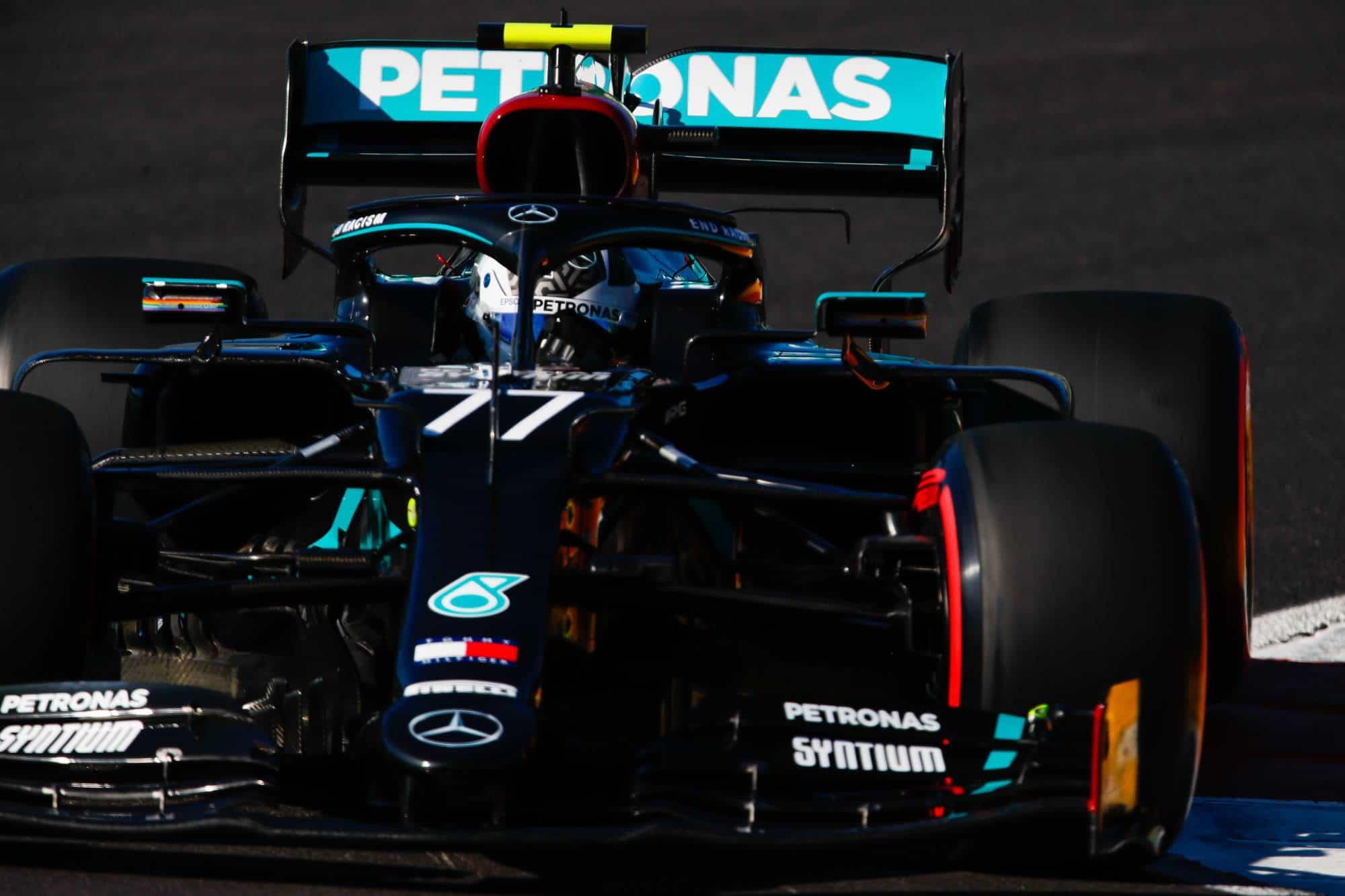 2020 Portugal GP Bottas Mercedes F1 W11 soft qualifying Photo Daimler